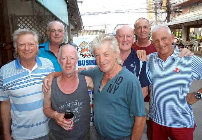 Keith Buchanan (from left) with Colin Stielow, Shane Young, Allan Ray, Mark Stapleton, Dave Maw and JC Lhoste.