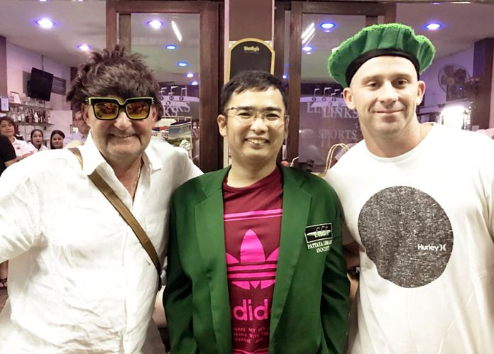 Akira Sekiya (center) with Iain Craigen (left) and Mitchell Carlon.