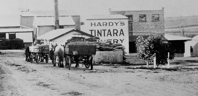 Hardys winery yesteryear.