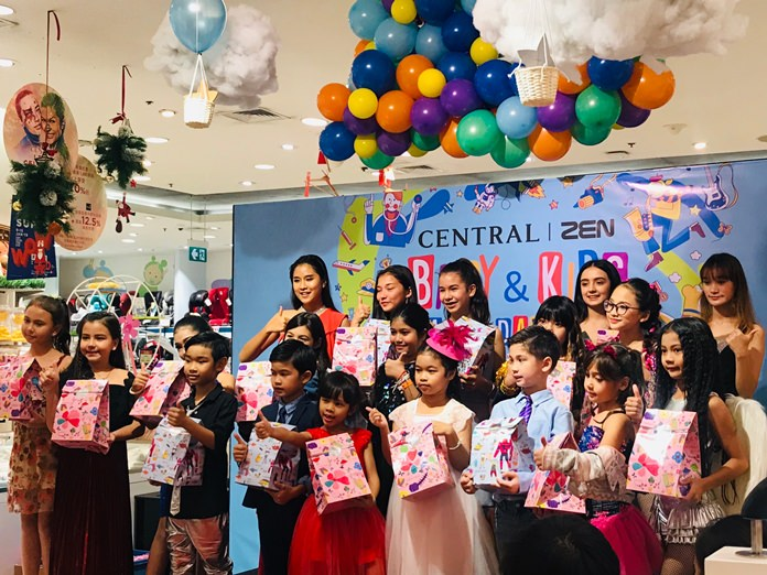 At Central Festival Pattaya Beach, children win prizes sponsored by mall shops.