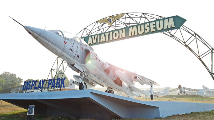 At U-Tapao-Rayong-Pattaya Airport, the navy's Air Division opened its hangars to kids to view exhibits from the Naval Aviation Museum.