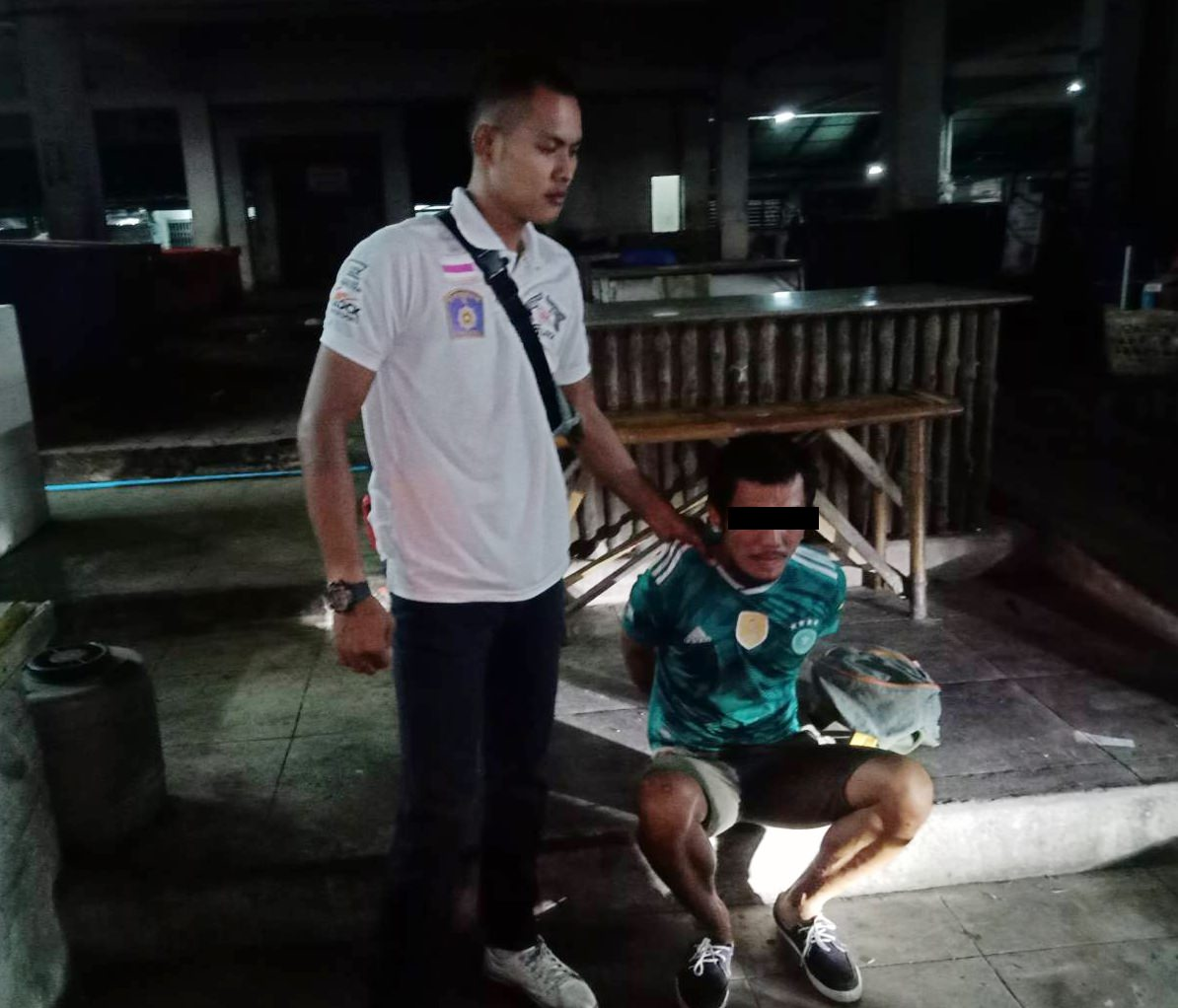 Police arrested one of the two alleged attackers, identified only as Pong, when a homeless man was bludgeoned with a glass bottle after he refused a request to bum a cigarette off him.