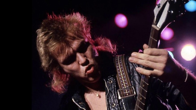 Michael Schenker is shown in this 1980 file grab from video. (Photo/You Tube)