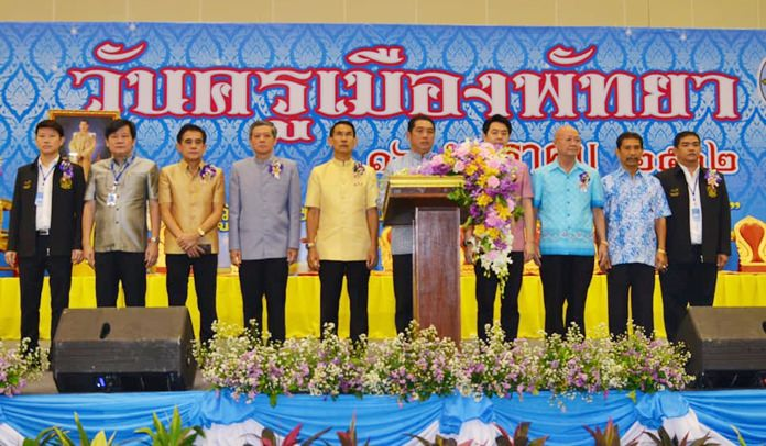 Mayor Sonthaya Kunplome stresses the importance of teachers in guiding youths.