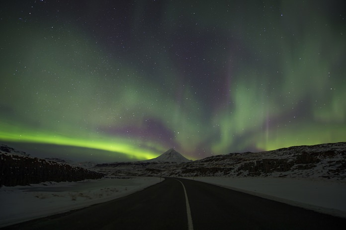 Police in Iceland say sleep-deprived tourists are dividing their attentions between the road and the sky, and often underestimate the challenging conditions posed by Iceland's twisty, narrow, often-icy roads in the winter. (AP Photo/Rene Rossignaud, file)