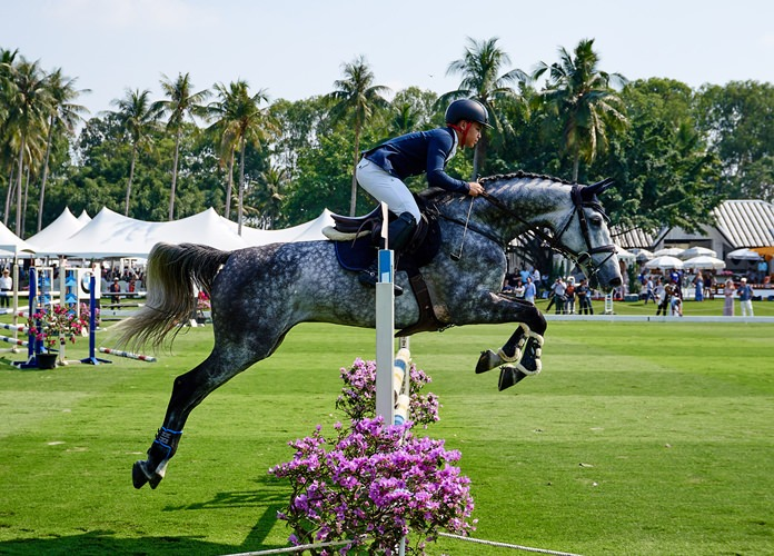 Thailand's national showjumping team gave a fine display of their equestrian skills.