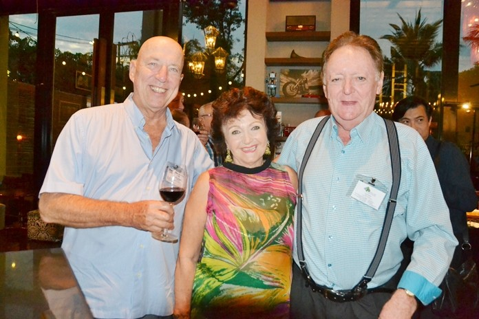 PCEC Chairman Roy Albiston, Pattaya Blatt Executive Editor Elfi Seitz, and Allan Riddell, Consultant to the Board of SATCC.