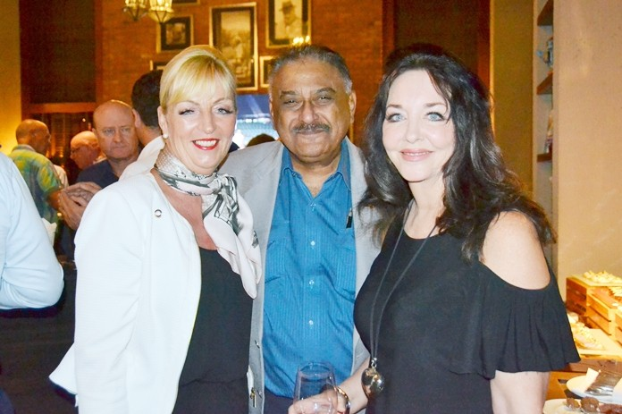 Amari Pattaya Area General Manager Deborah Haines (left) gets acquainted with Pattaya Mail MD Peter Malhotra, and Raine Grady, Founder of Crave Asia Video Solutions.