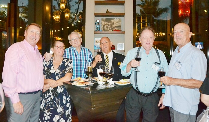 Brian Songhurst, President of the Rotary Club Eastern Seaboard, Veronique Waas Jobin, Andrew Wood, International Hospitality Editor for Travel Daily News, Rodney Charman, Allan Riddell, and Roy Albiston.