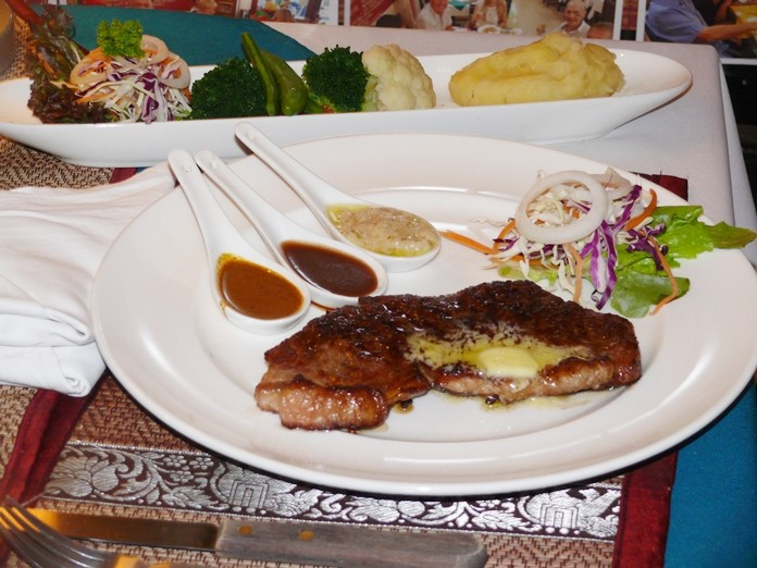 The Angus Beef was cooked to perfection and was a large portion as well.