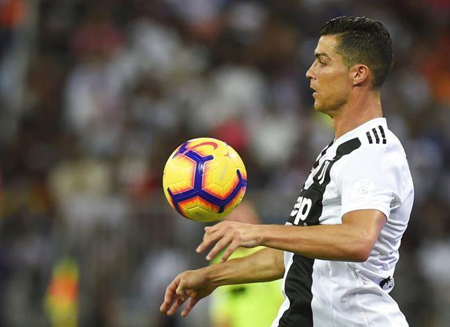 Juventus' Cristiano Ronaldo controls the ball during of the Italian Super Cup final soccer match between AC Milan and Juventus at King Abdullah stadium in Jiddah, Saudi Arabia, Wednesday, Jan. 16. (AP Photo)