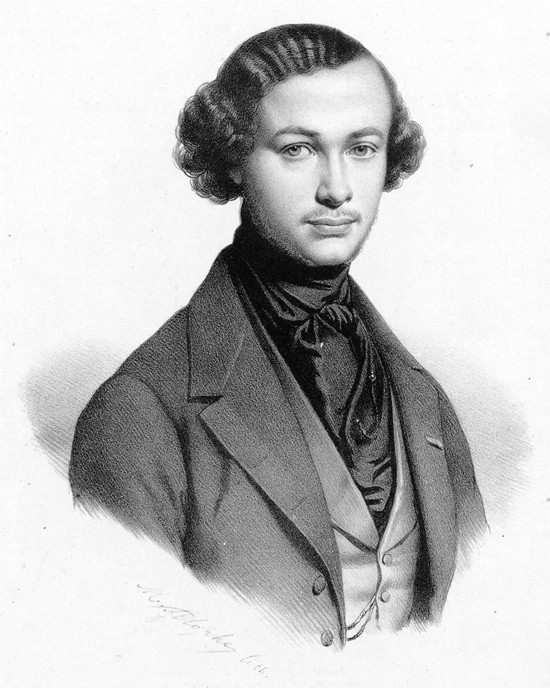 Henri Vieuxtemps is shown in this sketch by Marie-Alexandre Alophe.