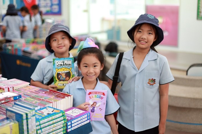 Primary students loved checking out new titles during book week.