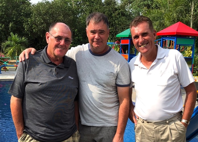 Stan Rees, Stephen Ford and Neil Harvey.