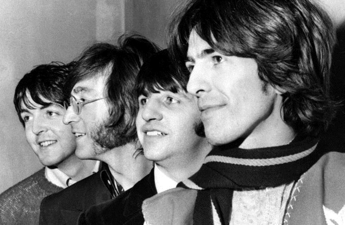 This Feb. 28, 1968, file photo shows The Beatles, from left, Paul McCartney, John Lennon, Ringo Starr and George Harrison. (AP Photo)