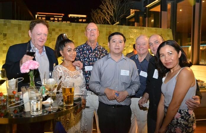 Allan Riddell, Jintana Phenix, Mike Todd-White, Krittapat C., Patrick Heywood, Daniel Parsons and business partner.