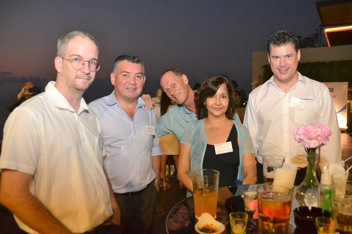 Ben Davis-Hughes, Mark Bateman, Paul Callus, Supa Kukarja, Pattaya Mail Director of Communications, and Martin Roessing, Plant Manager of BorgWarner.