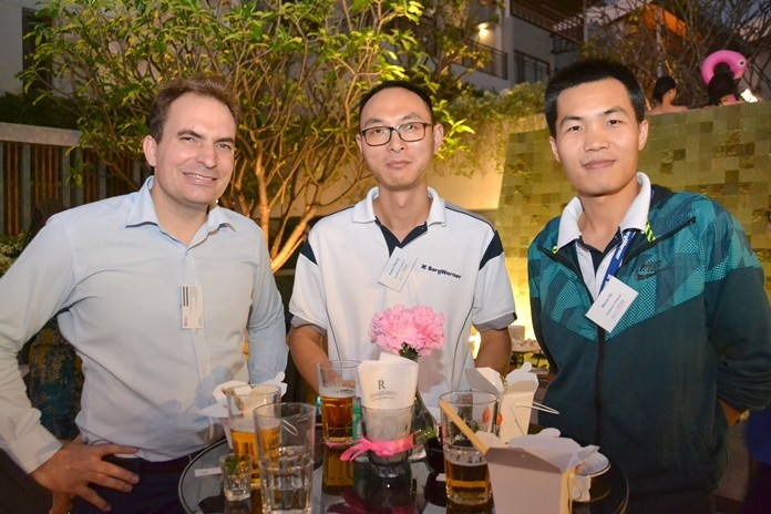 Lionel Blondiau, Senior Manager at Robert Walters, Kevin Shang, and Mavis He of BorgWarner Thailand.