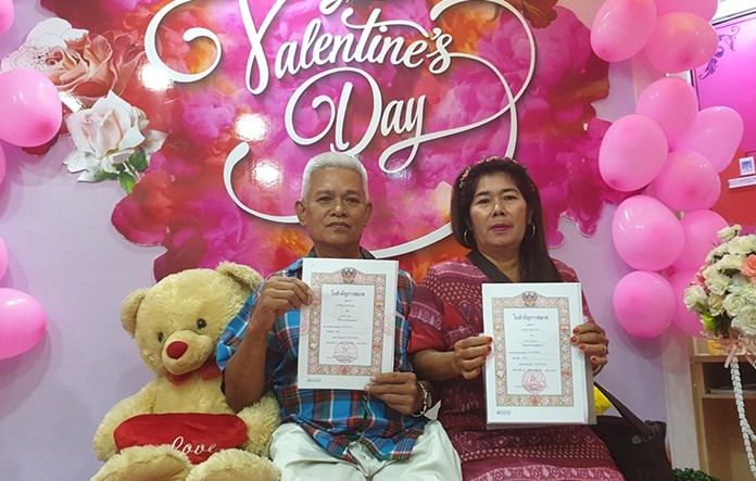 Bancha Pokprasert, 63 and Anong Meebuth, 58, have been together for 20 years, but never actually tied the knot. This year they decided they'd make it official.