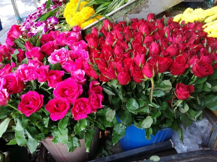 """Florists admitted prices were much higher than last year – allegedly due to """"cold weather"""" and not greed."""