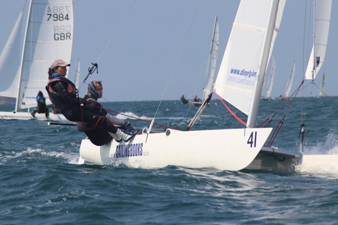 Dave and Louise Roberts sail to overall victory at the Dart 18 World Championships held at Royal Varuna Yacht Club in Pattaya, Thailand, Friday, Feb. 22. (Photo/Sarka Ngassa)