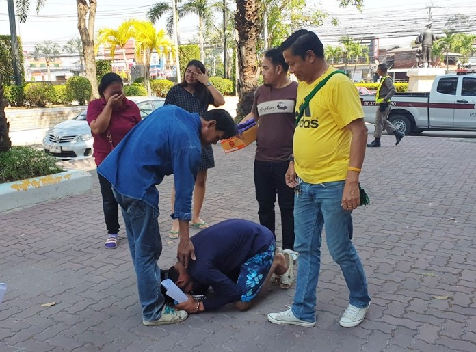Kittipong Cherdwongsung, 32, was captured in a sting operation near a Nong Plalai resort. The suspect cried and dropped to his knees apologizing when he saw his relatives.