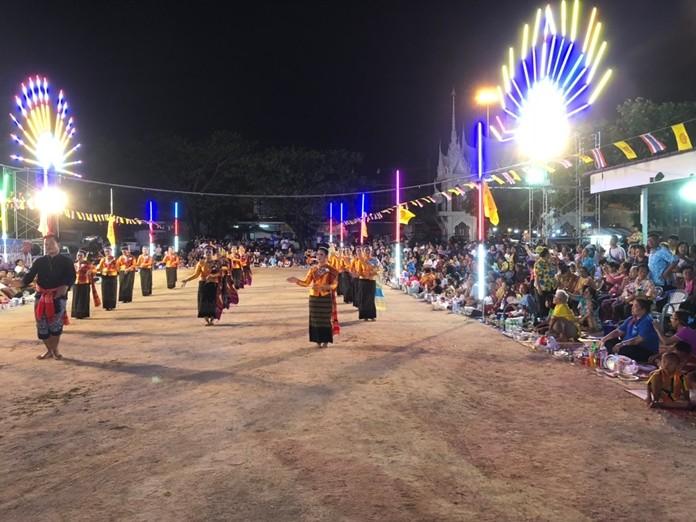 Cultural performances highlight the Wat Nongyai Kong Khao event.