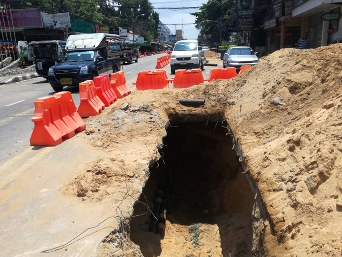 The Provincial Electricity Authority said it will cover holes on Central Road before Songkran to prevent traffic jams during the Thai New Year.