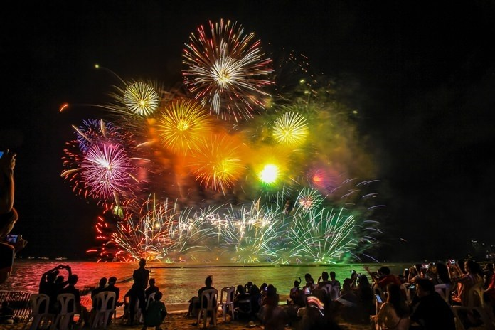 The International Fireworks Festival returns to Pattaya Beach May 24-25 with music and pyrotechnics.