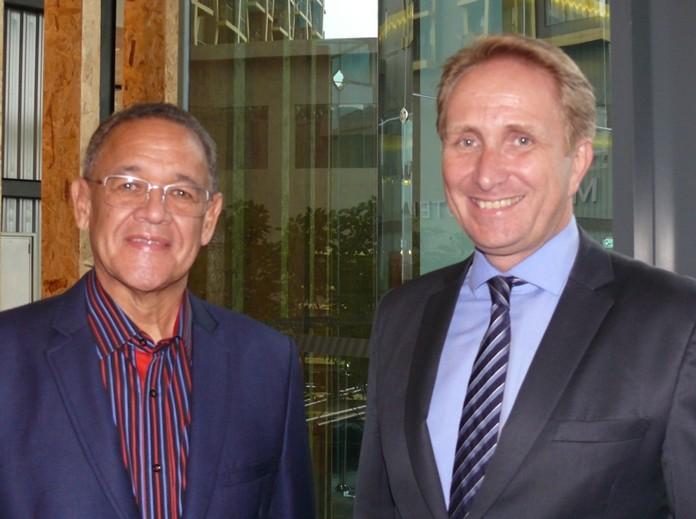 S.African Ambassador Geoffrey Doidge and Till Morstadt.