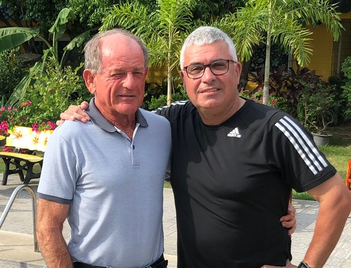 Paddy Devereux (left) with Martin Hayes.