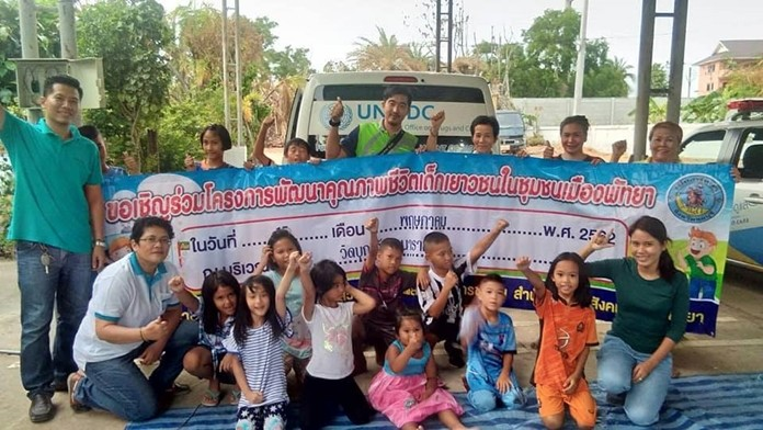 Pattaya and the Human Help Network Thailand taught young children how to stay safe and report abuse.