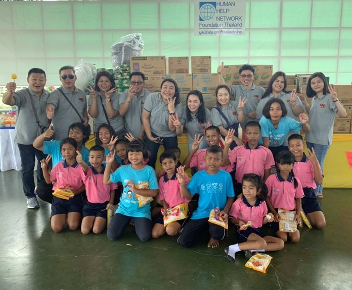 Unilever Thai Trading Co. donated 100,000 baht in household products to the Child Protection and Development Center
