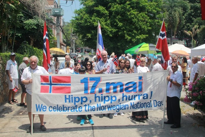 Pattaya's Norwegian community celebrated the 205th anniversary of their country's constitution at the Norwegian Church Abroad on Thappraya Soi 7.
