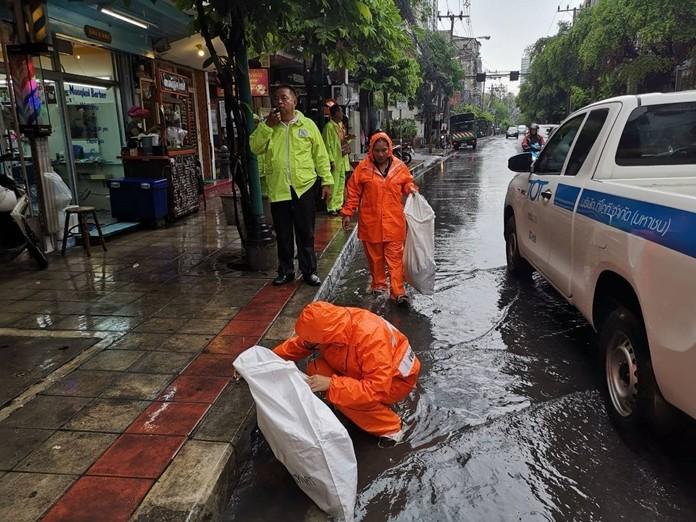 Heavy rain hit Bangkok on Friday, June 7, causing widespread flooding.