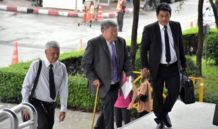Premchai Karnasuta, president of Italian-Thai Development PLC, arrives at a court in Bangkok, Tuesday, June 11. (NNT Photo)