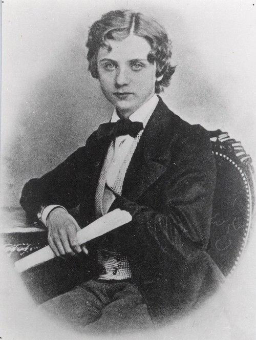 Edvard Grieg in 1862 as a student in Leipzig.