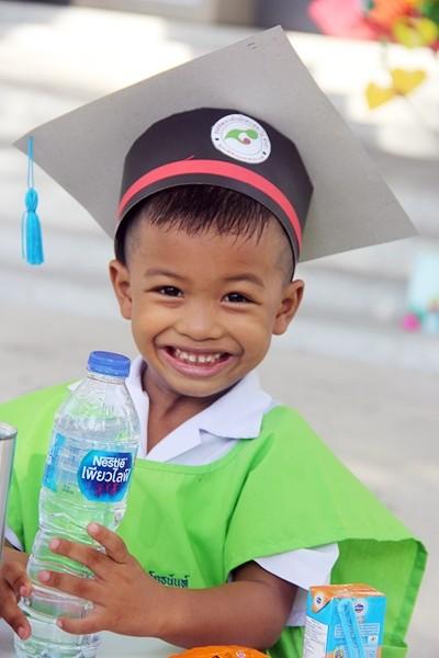 A happy graduating student.