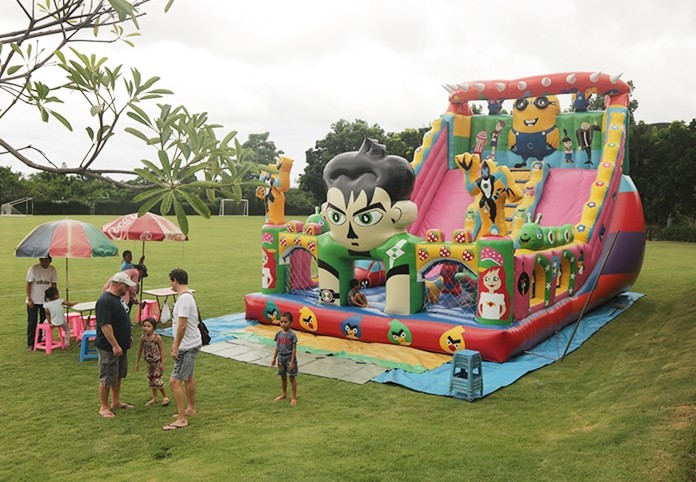 A bouncy castle will be one of the highlights of the GIS fun day.