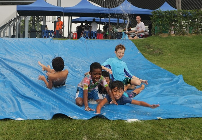 Water slides will be at GIS for an upcoming fun day on Saturday June 8.