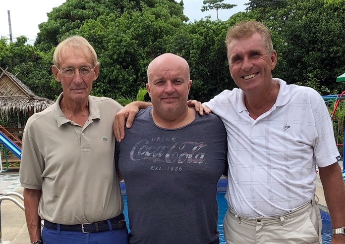 Willem Lasonder (from left) with Dave Smith and Neil Harvey.