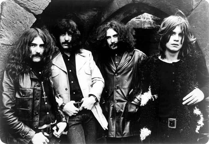 Black Sabbath in 1970, from left to right: Geezer Butler, Tony Iommi, Bill Ward, Ozzy Osbourne.