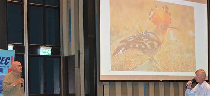 PCEC Member Ian Frame, whose hobby is photographing nature, asks PCEC speaker Jonathan Finch if he has also found that both wildlife and birdlife have become more scarce around Pattaya because of the increasing number of developments where such life was previously abundant.