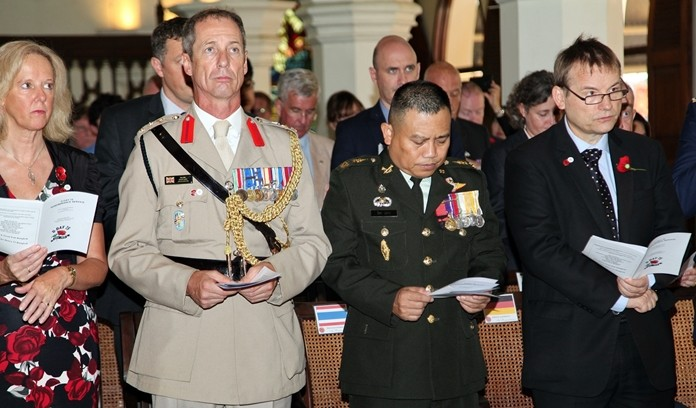 British Defence Attaché Roger Lewis, his wife Kimberley and the Commander in Chief Royal Thai Army.