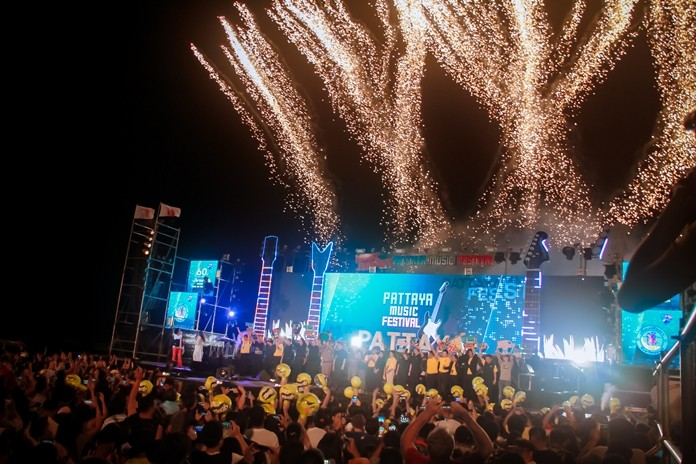 Music filled the air from north to south as the Pattaya Music Festival roared to life on three beachfront stages. The annual festival draws huge crowds, helps fill local coffers, but at the same time causes massive traffic jams.