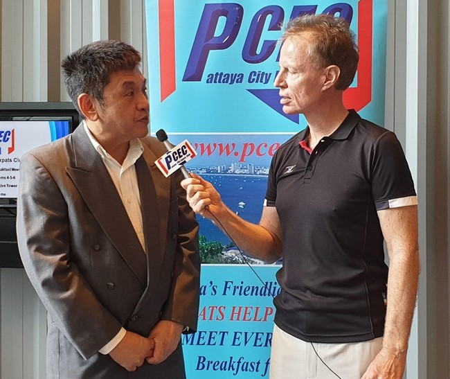 Member Ren Lexander interviews Dr. Sujit Banyatpiyaphod about his presentation to the PCEC. To view the video, visit https://www. youtube.com/watch?v=9pgbxhWAdyg.