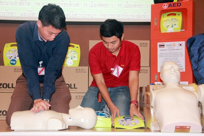 Following the presentations, all recipients were required to attend strict training sessions on CPR and the proper use of the AEDs.