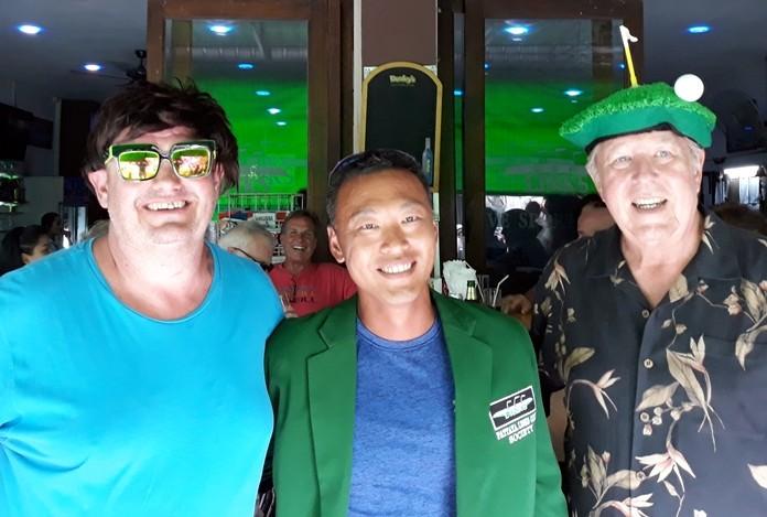 Erik Lundeman (centre) with Stu Brown (left) and Tip Briney.
