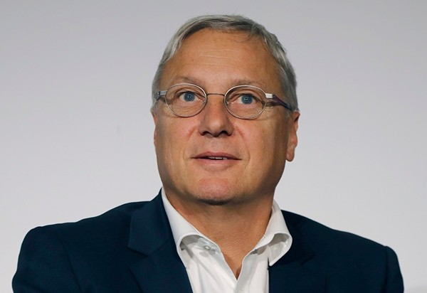 Chief Commercial Officer of Airbus, Christian Scherer says his company already has the technology to fly passenger planes without pilots at all - and is working on winning over regulators and travelers to the idea. (AP Photo/Michel Euler, file)