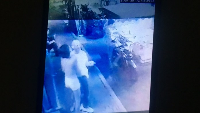 Anthony O'Malley shared CCTV footage of him being pickpocketed on Walking Street and the story was picked up by the British tabloids.